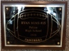 6x8 Football Plaque TROPHY - FOOTBALL
