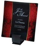Laserable Glass Tray Red Artistic Glass Awards