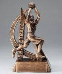Ultra Action Series Sculpted Antique Gold Resin Trophy -Basketball Male Basketball Trophy Awards