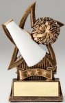 Star Series Sculpted Antique Gold Resin Trophy -Cheer Cheerleading Trophy Awards