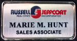 3 X 1.625 Color Aluminum Name Badge with Aluminum Backing Color Name Badges