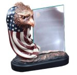 Resin Eagle and Flag with Glass Eagle Trophy Awards