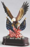 Eagle with American Flag On Base Patriotic Awards