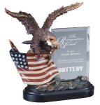 Eagle On Flag With Glass Patriotic Awards
