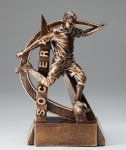 Ultra Action Series Sculpted Antique Gold Resin Trophy -Soccer Male Soccer Trophy Awards