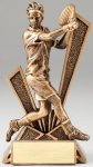 Checkmate Series Sculpted Antique Gold Resin Trophy -Tennis Male  Tennis Trophy Awards