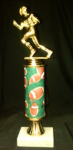 Football Column Trophy Traditional Football Trophies