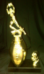 Football Trophy with Helmet Trim Traditional Football Trophies