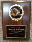 5x7 Football Mylar Plaque TROPHY - FOOTBALL