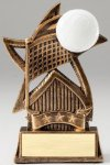 Star Series Sculpted Antique Gold Resin Trophy -Volleyball Volleyball Trophy Awards