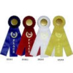 Classic Three Streamer Rosette Award Ribbon Volleyball Trophy Awards
